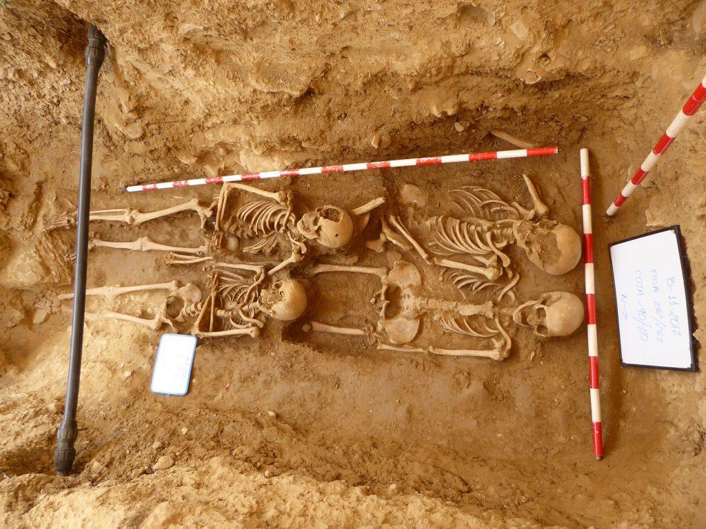 Primer proyecto arqueológico de exhumación de la Guerra Civil llevado con éxito en la ciudad de Huesca. 2017. ARQUEOPLUS. Dirección: A. Alagón/F. Pérez.