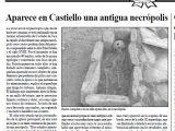 Necrópolis medieval de Sopretera. Castiello de Jaca (Huesca) Antonio Alagón. ARQUEOPLUS. Pirineo Aragonés 2004.