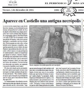 Arqueología Urbana. Castiello de Jaca. Huesca.